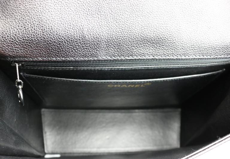 Chanel Black Caviar Flap Handbag  For Sale 3