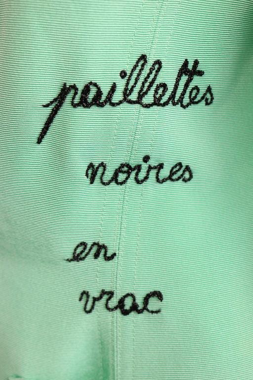 Women's Franck Sorbier Mint Embroidered Jacke For Sale