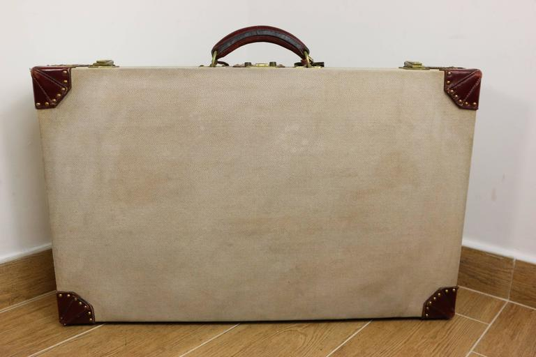Hermes Canvas Rigid Trunk  For Sale 3