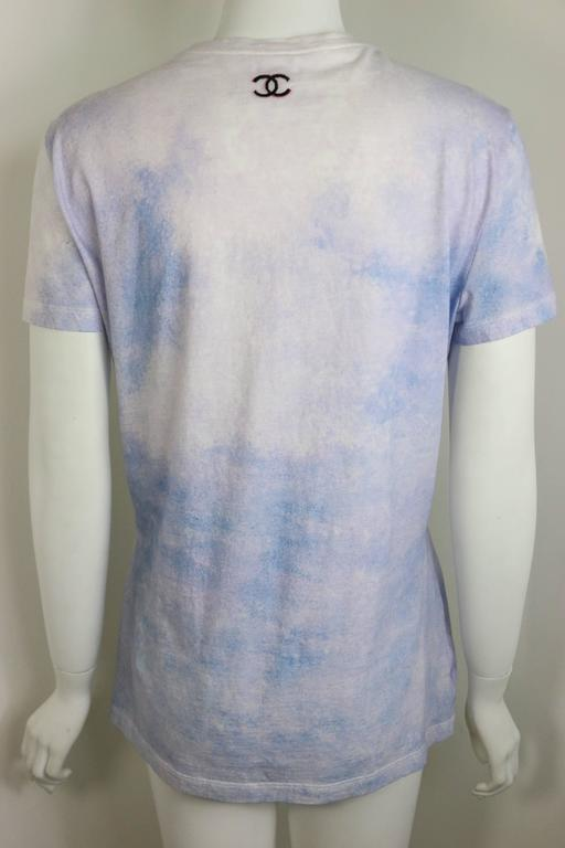 Gray Chanel Coco Chanel Smoking Printed T-Shirt  For Sale