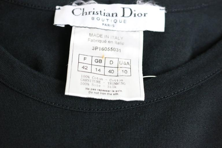 Women's Dior Black Tank Top With Silk Wrap Details  For Sale