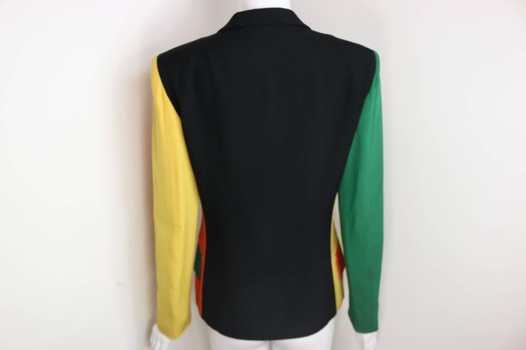 Orange Moschino Colour Blocked Double Breasted Jacket For Sale