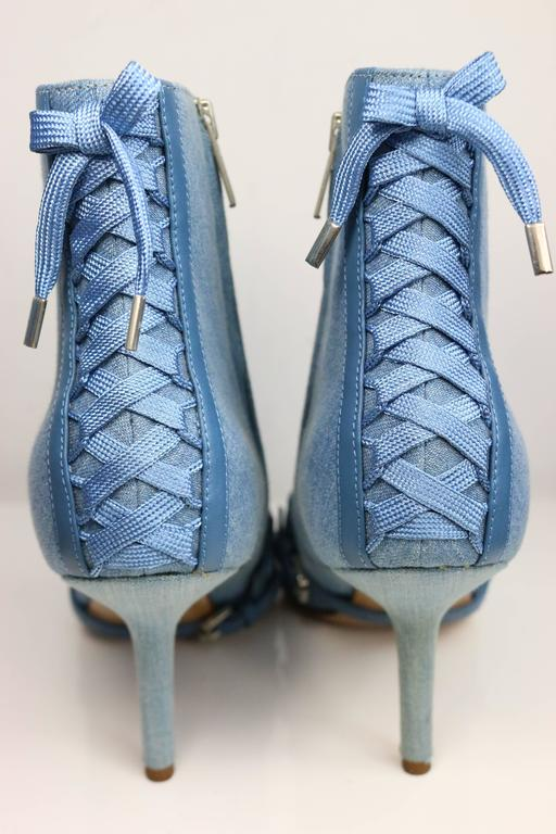Christian Dior Denim Ankle Boots 2