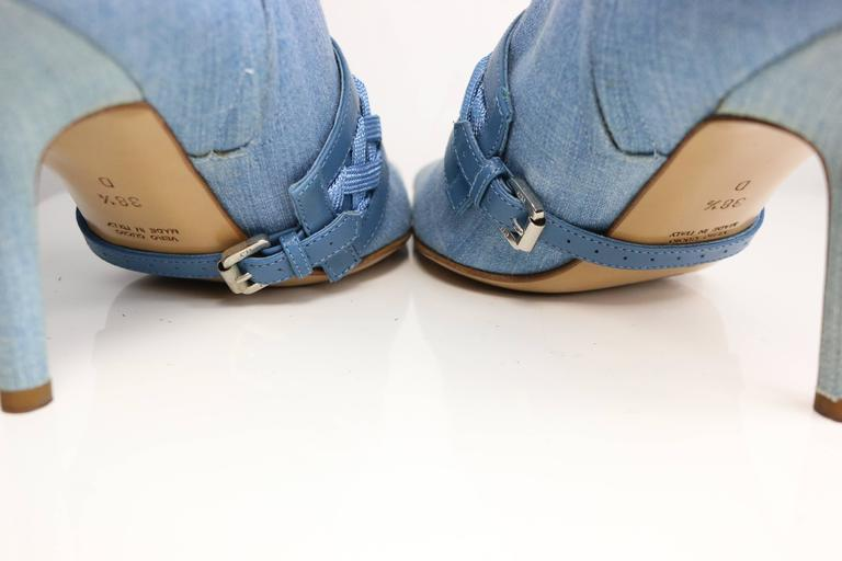 Christian Dior Denim Ankle Boots 3