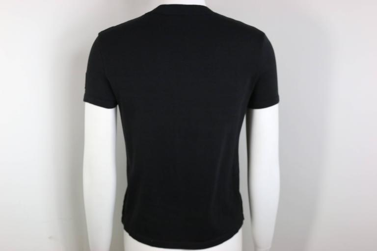 "Chanel Black ""CC"" Logo Short Sleeve Crew Neck Top 3"