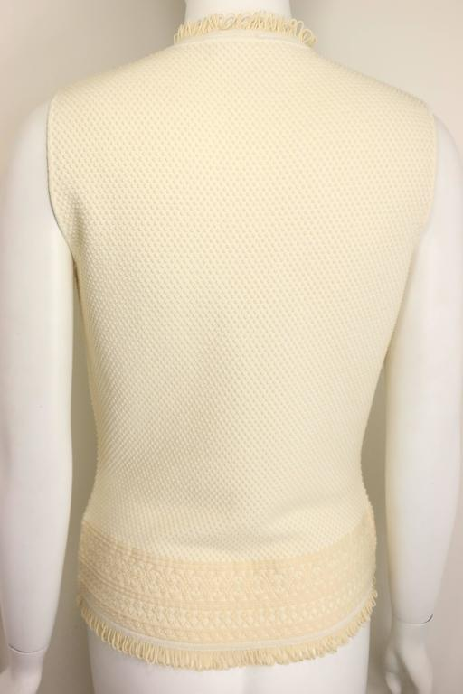 - Christian Dior by John Galliano early 2000s beige tank top.   - Featuring ribbed crew neck with extra fabrics on the neckline and hem.