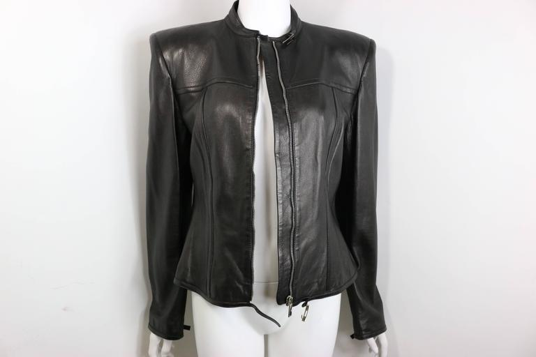 Women's Gucci by Tom Ford Black Lambskin Leather Jacket For Sale