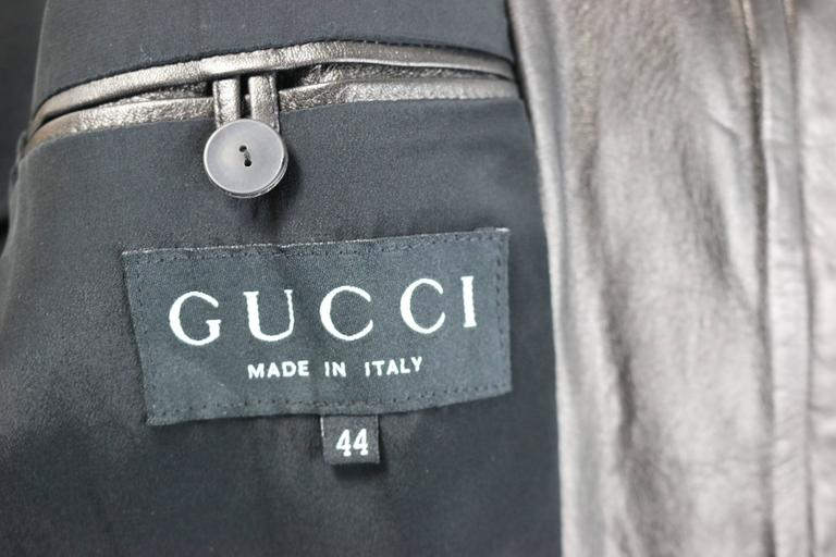 Gucci by Tom Ford Black Lambskin Leather Jacket For Sale 4