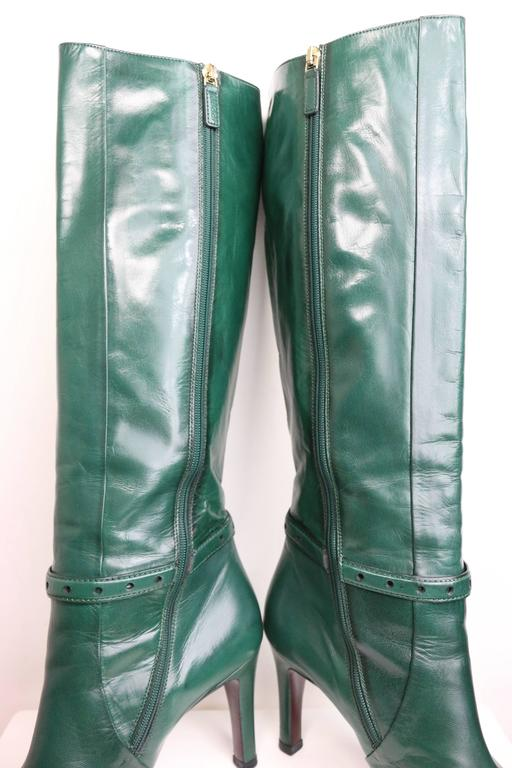 Gucci Green Leather Boots  5