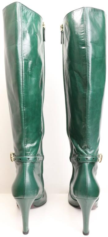 Gucci Green Leather Boots  6