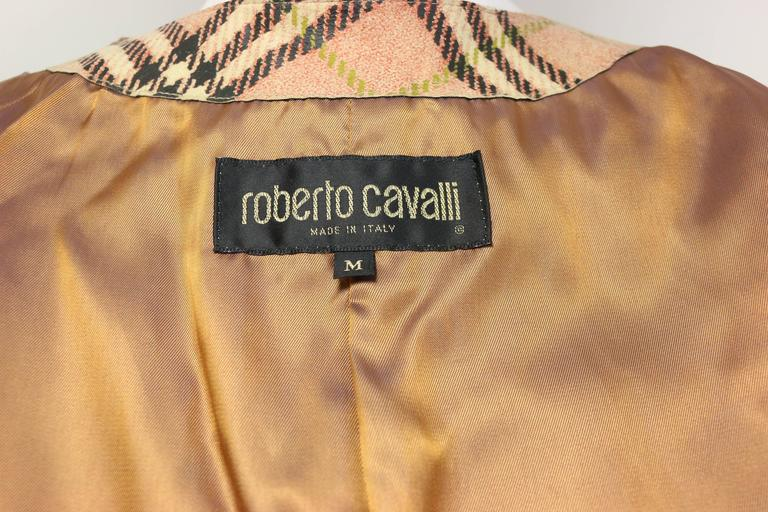 Roberto Cavalli Leather Multi Patterns Patchwork Vest 3