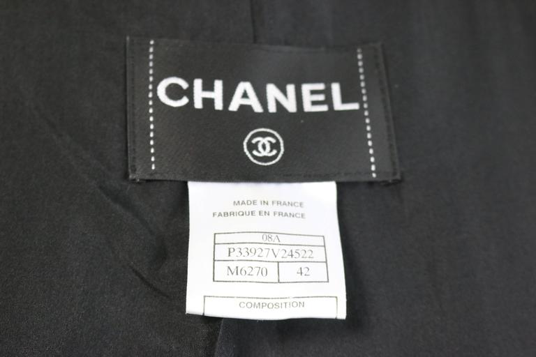 Chanel Black and Blue Tweed Wool Coat  For Sale 2