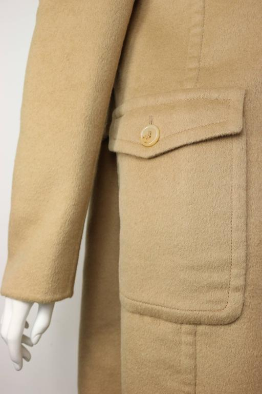 90s Prada Camel Wool Angora Goat Hair Double Breasted Coat  For Sale 2