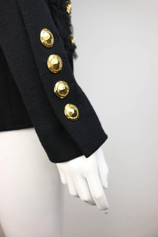 Gemma Kahng Black Wool Shawl Jacket For Sale 1