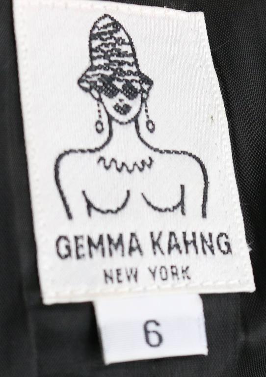 Gemma Kahng Black Wool Shawl Jacket For Sale 2