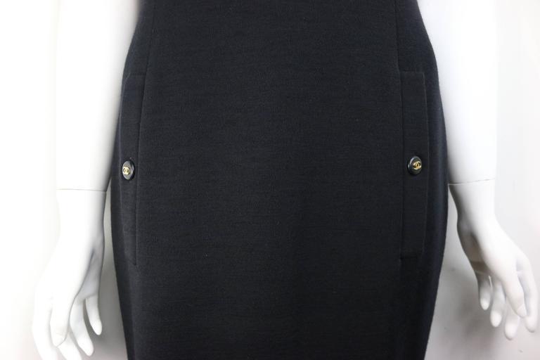 Chanel Black Wool Dress 2