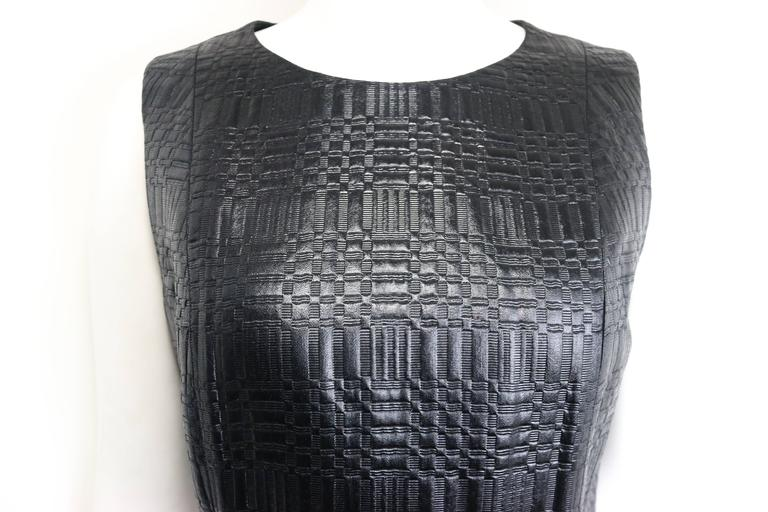 - Vintage 90s Sui by Anna Sui little black dress with check weave patterns and textured.   - Made in Italy.   - Size 40.   - 61% Acetate, 39% Rayon.