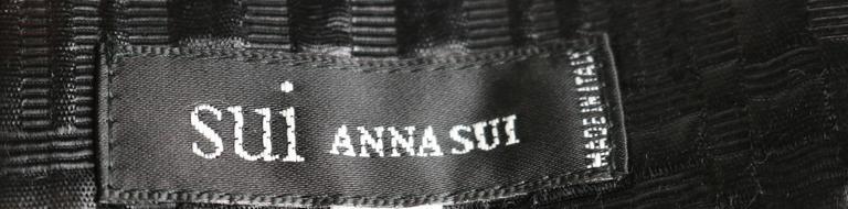 Women's Sui by Anna Sui Little Black Dress For Sale