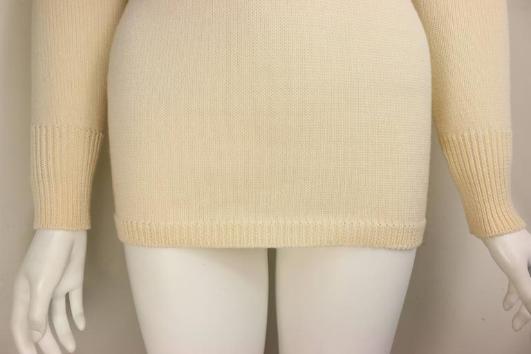 1996 Gucci by Tom Ford White Wool Turtleneck Top  In Excellent Condition For Sale In Sheung Wan, HK