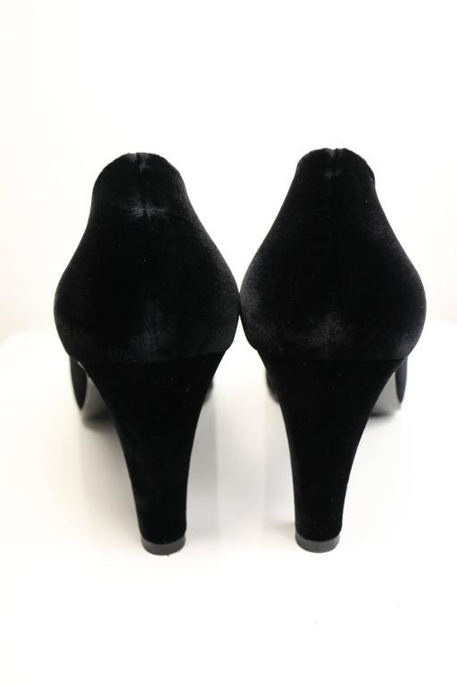 Chanel Black Velvet Pumps 3