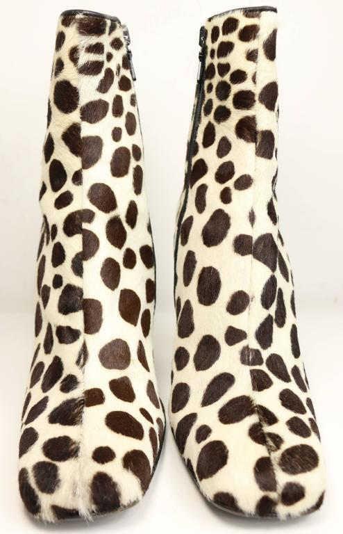 723b91700439 Vintage 90s Prada leopard print pony hair ankle boots. Animal print will  never go