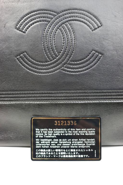 Vintage Chanel Black Leather Flap Bag with Tassel For Sale 1