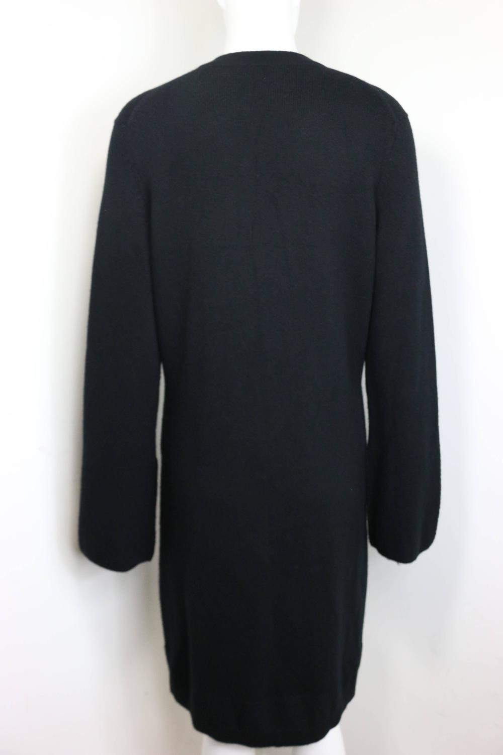 Black Cardigan With Diamond Buttons 86