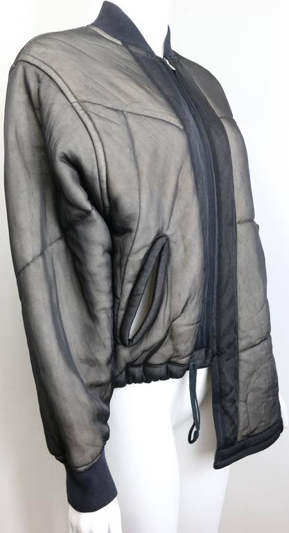Comme des Garcons Charcoal Grey Asymmetric Deconstruct Bomber Jacket  2