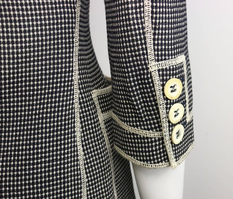 "Moschino Couture Black and White ""Understatement"" Jacket and Skirt Ensemble In Excellent Condition For Sale In Sheung Wan, HK"