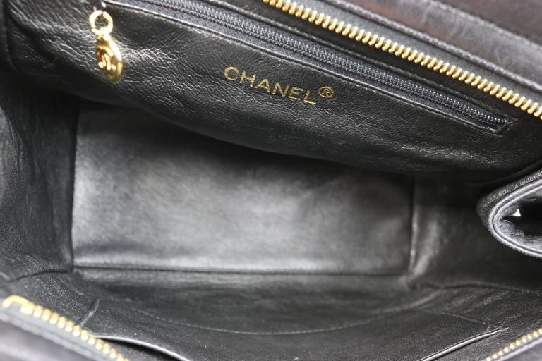 Chanel Black Quilted Lambskin Leather Petite Timeless Shoulder Strap Tote 5