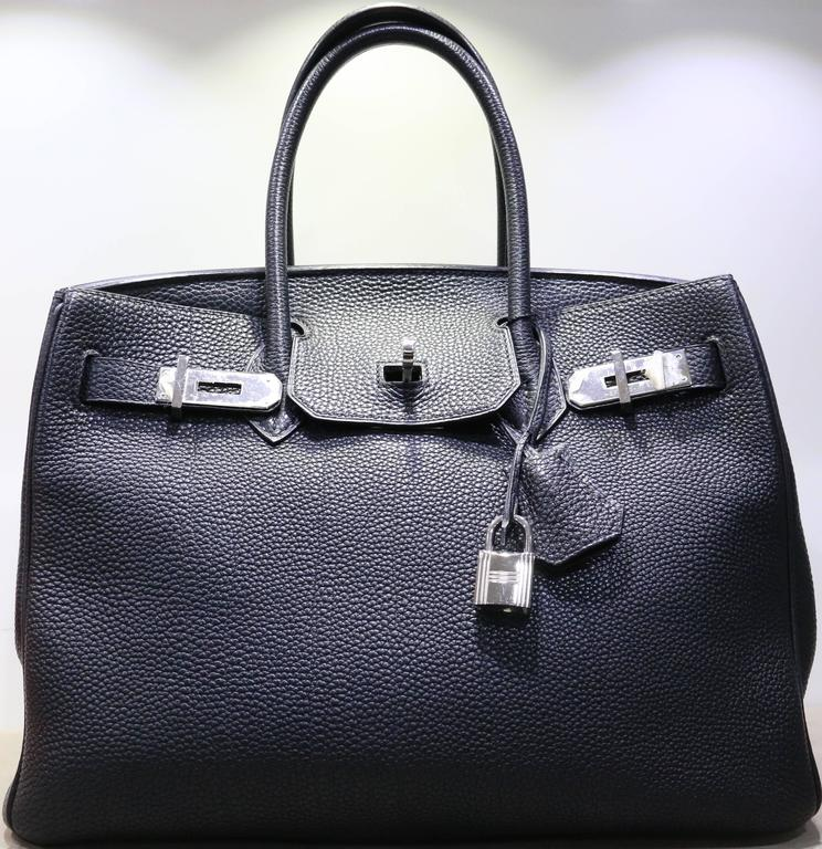 7f829583ed87 This Authentic Hermes black Birkin 30cm in togo leather with silver hardware  is chic