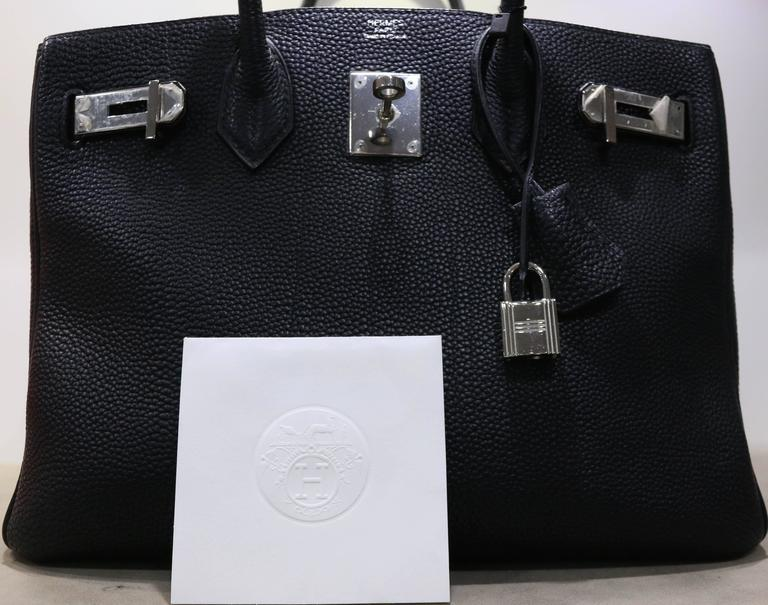 999a08b8971a Hermes Black Birkin 30cm in Togo Leather with Silver Hardware at 1stdibs