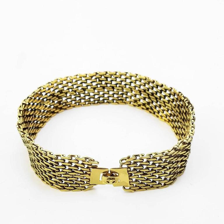 "Chanel Gold Toned Hardware ""CC"" Logo Chain Bracelet  3"