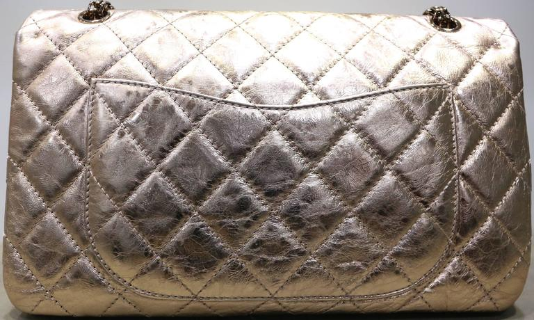 8ed2252c29a8 This Chanel rare colour rose gold metallic reissue 2.55 quilted calfskin  shoulder double flap bag