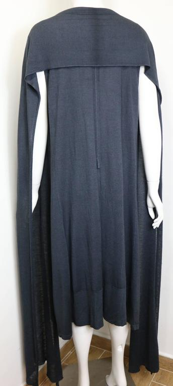 Women's Yves Saint Laurent by Stefano Pilati Grey Wool Maxi Dress For Sale