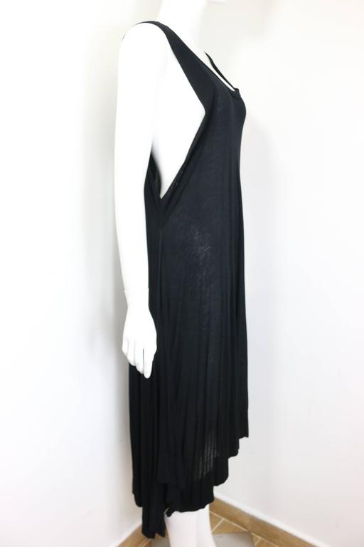 Ann Demeulemeester Black Asymmetrical Long Dress In Excellent Condition For Sale In Sheung Wan, HK