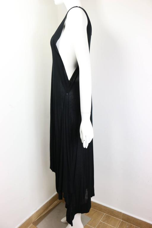 Women's Ann Demeulemeester Black Asymmetrical Long Dress For Sale