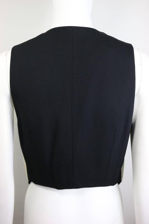 Moschino Cheap and Chic Black and White Harlequin Waistcoat with Tassels In New Condition For Sale In Sheung Wan, HK