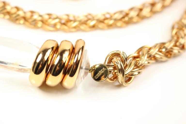 Crisco by Escada Copper Metal Chain Belt 4