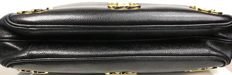 Unused Chanel Black Caviar Leather Gold