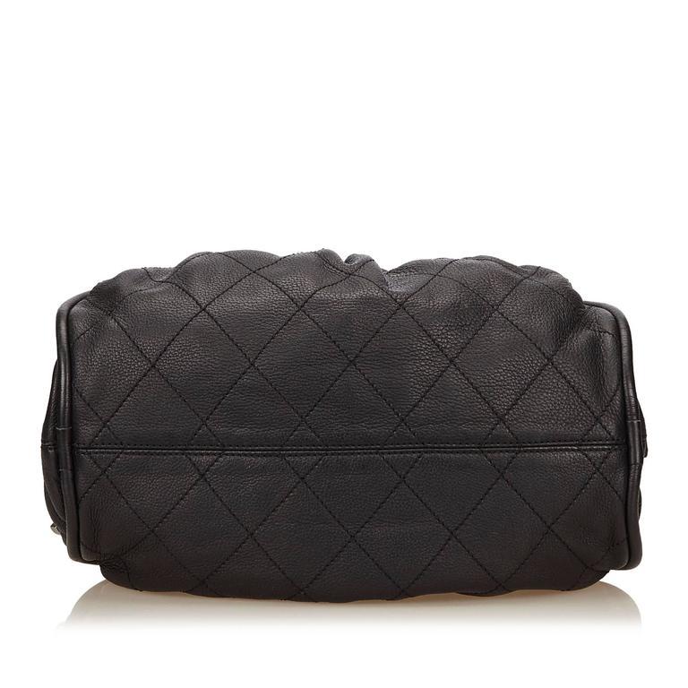 Women's Chanel Black Leather Le Marais Bowler Bag For Sale