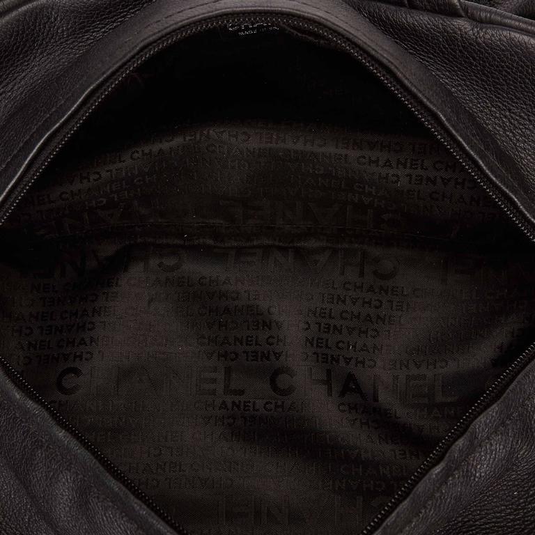 Chanel Black Leather Le Marais Bowler Bag For Sale 1