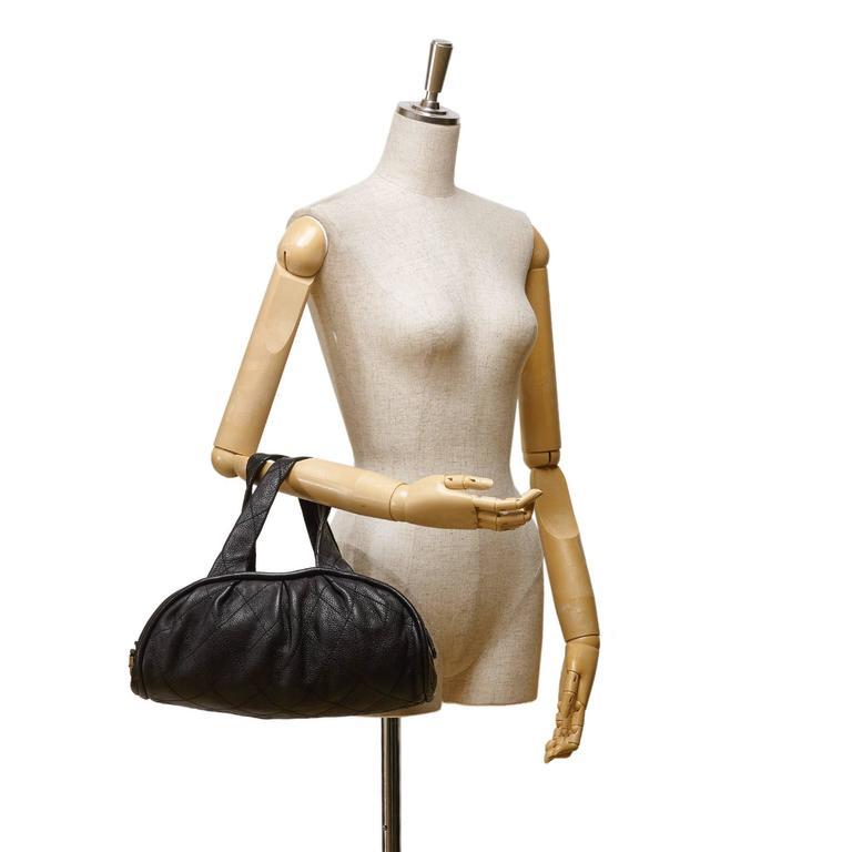 Chanel Black Leather Le Marais Bowler Bag 2