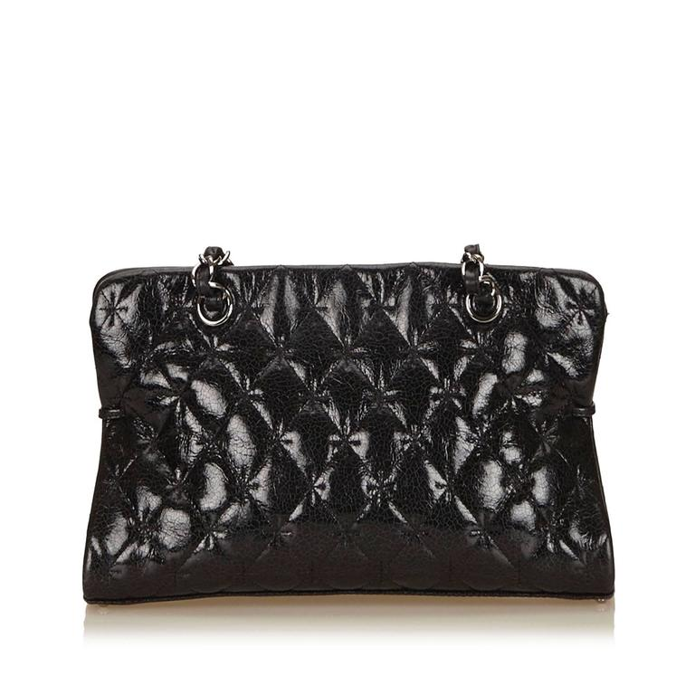 Chanel Black Quilted Patent Reissue 2.55 Chain Shoulder Bag  3