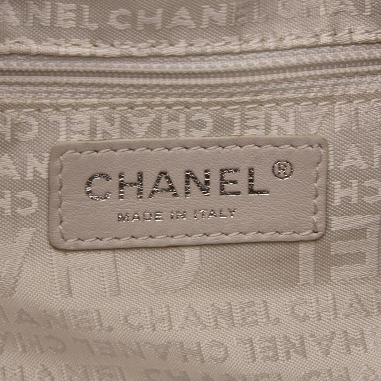 Chanel Black and White Wild Stitch Drawstring Tote Bag For Sale 2