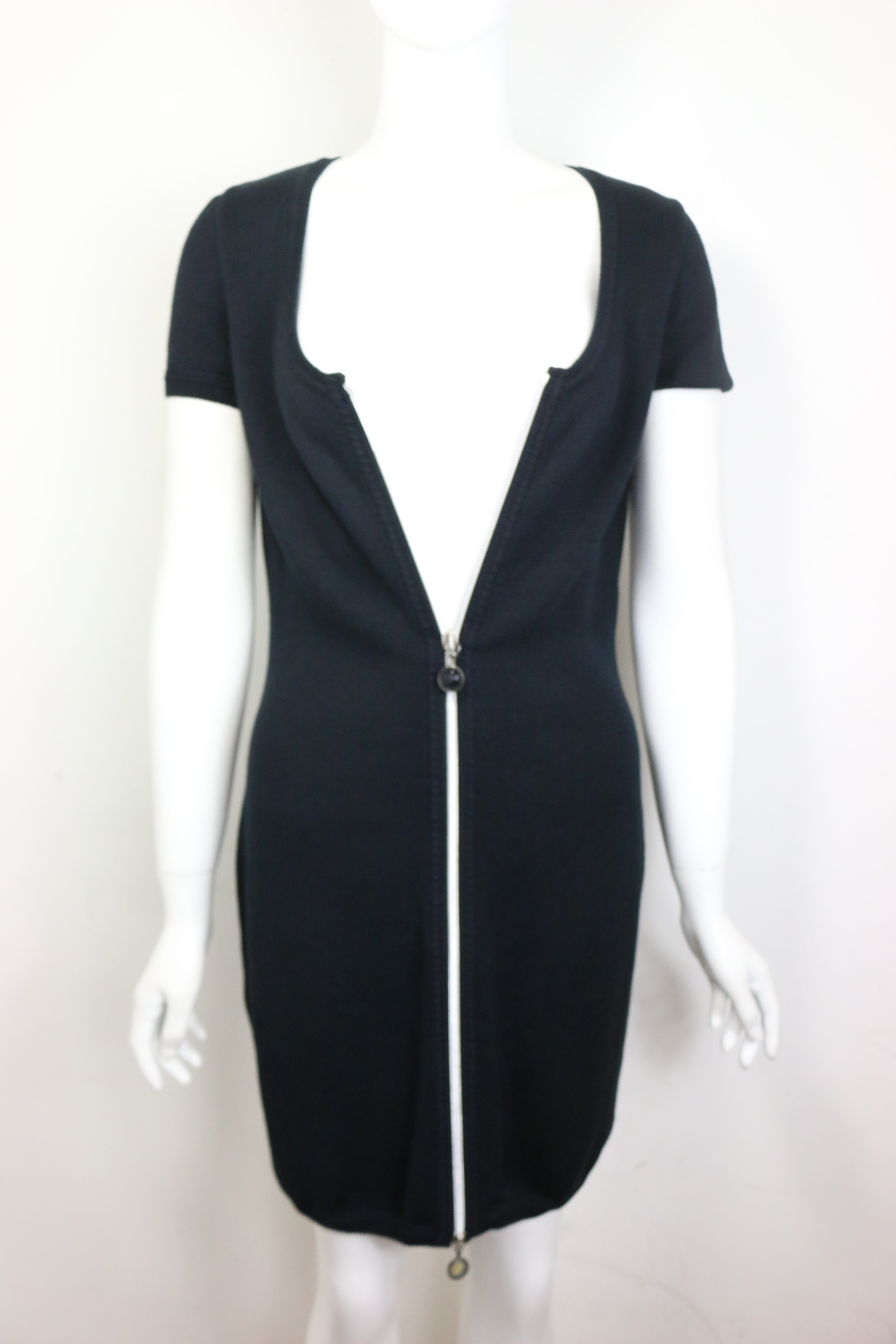 6ca2dfeab77 Gianni Versace Black Zipper One Piece Dress For Sale at 1stdibs