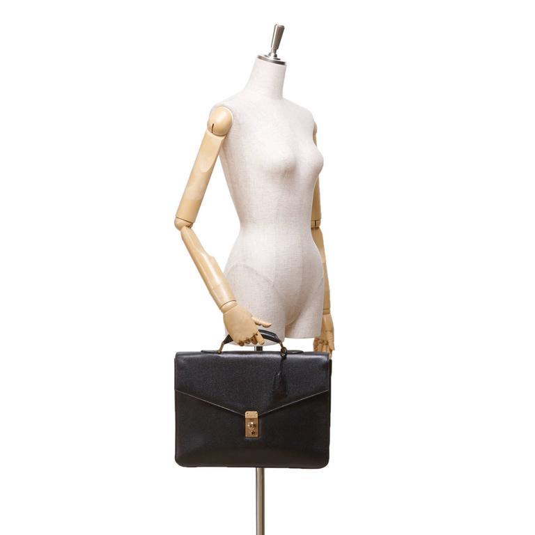 Chanel Black Caviar Leather Briefcase 2