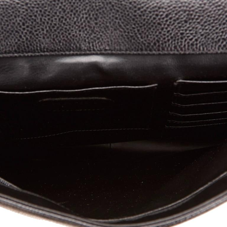 Chanel Black Caviar Leather Briefcase For Sale 1