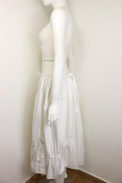 Women's Dolce and Gabbana White Cotton Strapless Dress For Sale