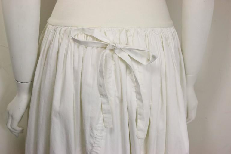 Dolce and Gabbana White Cotton Strapless Dress In Good Condition For Sale In Sheung Wan, HK